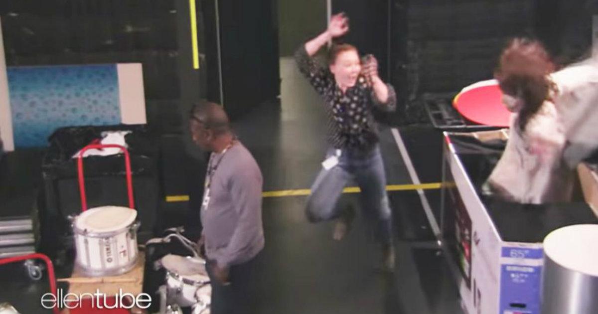 Watch Ellen DeGeneres Scare the Pants Off Her Staff in Hilarious New Halloween Video